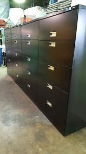 Hon Lateral File Cabinet Black With Filing Shelf Lock And Key