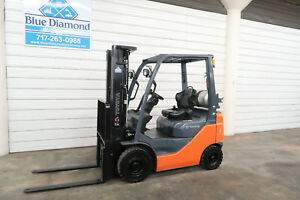 2015 Toyota 8fgu15 3 000 Pneumatic Tire Forklift Lpg Fuel 3 Stage S s