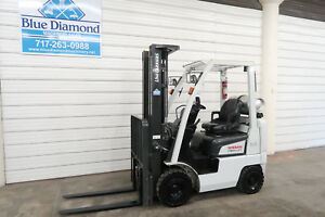 2014 Nissan Unicarriers 3 500 Pneumatic Tire Forklift Lp Gas 3 Stage S s