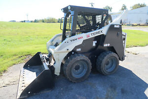2014 Terex Tsv 50 Skid Steer Only 64 Actual Hours Cat Controls Asv Loader