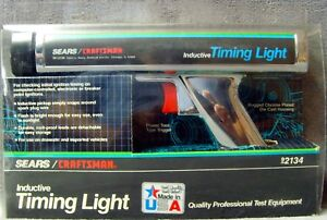 Read vintage 1992 sears craftsman inductive Timing Light 161 2134 original Box