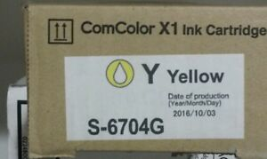 Risograph Riso S 6704g Yellow Ink Comcolor X1 Ink Cartridge S6704g Brand New