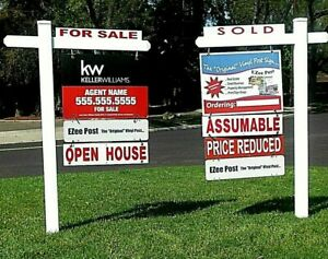 Real Estate Sign Post 6 Tall 2 Pack