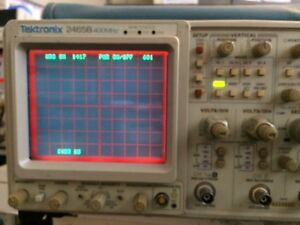 1417hr Tektronix 2465b Oscilloscope freq Counter Opt Refurbed Cal d Bin
