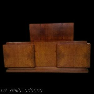 Stunning 1920s French Art Deco Burl Walnut Bed Full Queen Size Must See