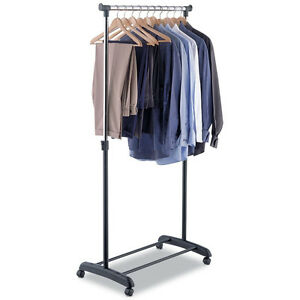 Rolling Laundry Adjustable Garment Rack Hanging Clothes