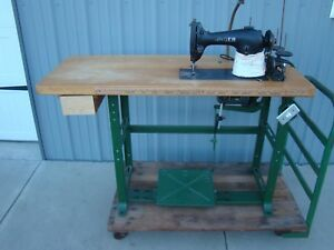 Singer 95 40 Industrial Sewing Machine With Table And Motor