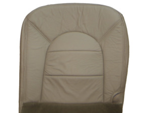 97 00 ford F 250 f350 Lariat Pickup V8 Driver Bottom Leather Seat Cover Tan