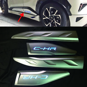 For Toyota C hr Chr Car Side Door Body Trim Cover Led Accessories 4pcs 2018