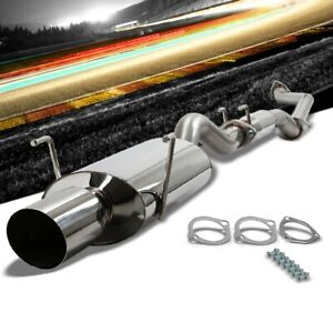 4 Oval Muffler Tip Exhaust Catback System For 02 06 Acura Rsx Type S 2 0l Dohc
