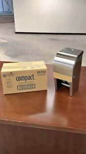 Georgia Pacific 56782 Compact Gp Lot Of 50 Stainless Toilet Paper Dispensers