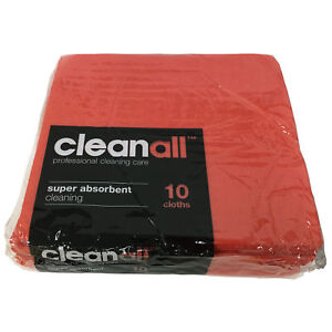 Clean All Red 20 X 10 Pack Super Strong Absorbent Bathroom Shower Cleaning Cloth