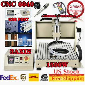 Cnc 6040 Router 110v Router Engraver Engraving Drilling Machine With Controller