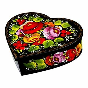 Heart shaped Jewelry Lacquer Box Redviolet Valentine Gift Earring Necklace Case