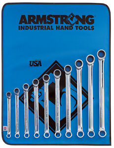 Ratcheting Box Wrench Set With Vinyl Roll 10pc Mm 10 19mm Armstrong 54 609