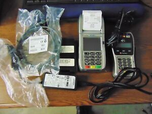 First Data Fd130 Duo Credit Card Machine And Fd 35 Pin Pad