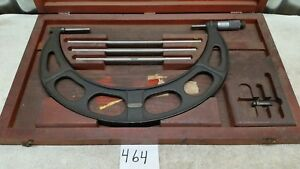 Starrett Model 224 Set C 9 12 Outside Micrometer Set In Wooden Case