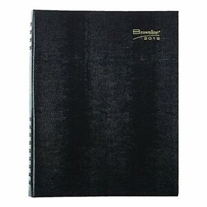 Brownline 2019 Coilpro Daily Professional Appointment Book Black 11 X 8 5 Inch
