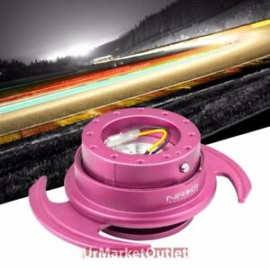 Nrg Pink Gen 3 0 Race Steering Wheel Quick Release Adapter 6 Hole Design