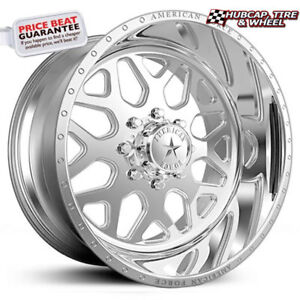 American Force Flux Ss8 Polished 19 5 x7 5 Truck Wheels Rims 8 Lug set Of 4