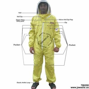 Adult Large Yellow Garden Pest Control Beekeeping Removable Fence Veil Bee Suit