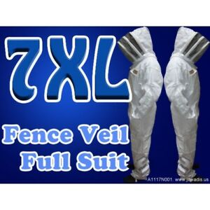 7xl Beekeeping White Pest Control Bee Suit Fence Style Veil Free Carry Case