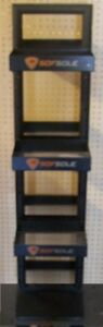 Store Display Fixtures Sofsole Double Sided Display Rack 58 Tall