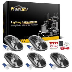 5pc Clear 264145cl Roof Running Light 168 5730 Blue Led For 99 02 Dodge Ram 3500