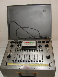 Eico 666 Tube Tester With Adapter And Manual