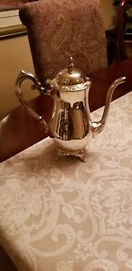 Vintage Heavy Ornate Silver Tea Pot From Oneida Usa Silver Plated