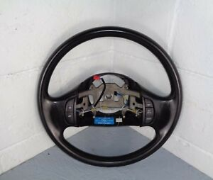 99 07 Ford F250 F350 Excursion Hard Vinyl Black Steering Wheel Cruise Switches