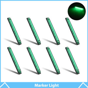 8 8 Led Marker Light Utility Strip Bar For 12v Truck Trailer Boat 18 Green Led