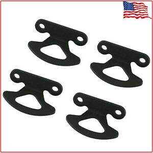Truck Bed Tie Down Hooks 4pc Set Black Compatible For 2000 2017 Ford F150 New