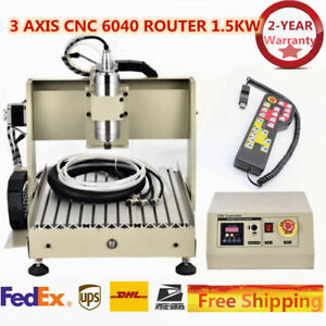 3 Axis Cnc 1 5kw 6040 Router Engraver Engraving Milling 400hz Machine controller