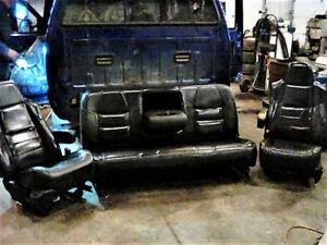 Genuine Ford 2003 F250 Leather Seats Driver s Passenger s Rear Bench