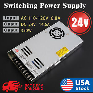 Lrs 350 24 Mean Well Power Supply 24v 14 6a 350w