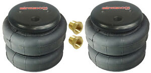 Air Bags Two Standard 2500 Lbs 3 8 npt Single Port Air Ride Suspension Springs