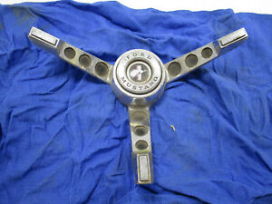Vintage Ford Mustang Chrome 3 Spoke Steering Wheel Center Bezel