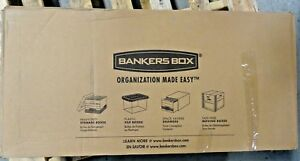 Bankers Box 00704 File Storage Boxes With String Button 12 box See Condition