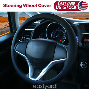 Car Steering Wheel Cover Black Protector For Suv Truck 14 15 Soft Silicone