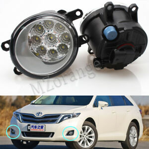 Pair 9 Led Fog Light Front Lamp For Toyota Venza 2009 2015 Replacement Driving
