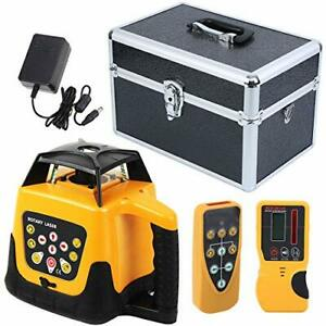 Ridgeyard Electronic Self leveling 360 Rotary Rotating Red Laser Level Kit