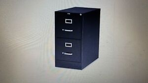 Realspace 22 d 2 drawer Vertical File Cabinet Black