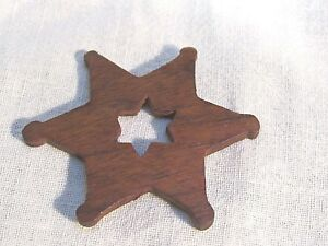 Antique Wood Thread Winder Holder Ship S Wheel Shape Rare