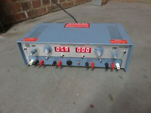 Vintage Triple Dc Power Supply Wp 708a