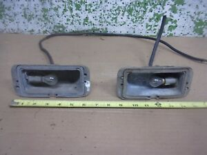 1950 Plymouth Front Left Right Park Light Signal Lamp Housing Oem F