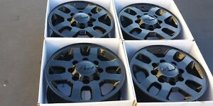 18 Chevy 2500 3500 2500 Hd Black Wheels Rims Factory Oem 2011 2019 5502