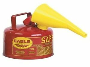 1 Gal Gas Can Tank Storage Metal Steel One Gallon Sturdy Container Gl Best Small