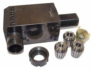 Vdi 40 Right Angle Radial Toolholder Er32 Collet Chuck 4 Collets Combi Holder