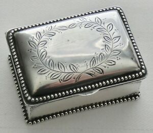 Wilcox Antique Sterling Silver Stamp Box